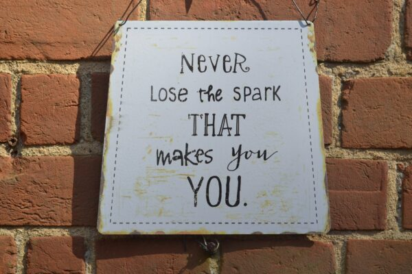 never lose the spark sign
