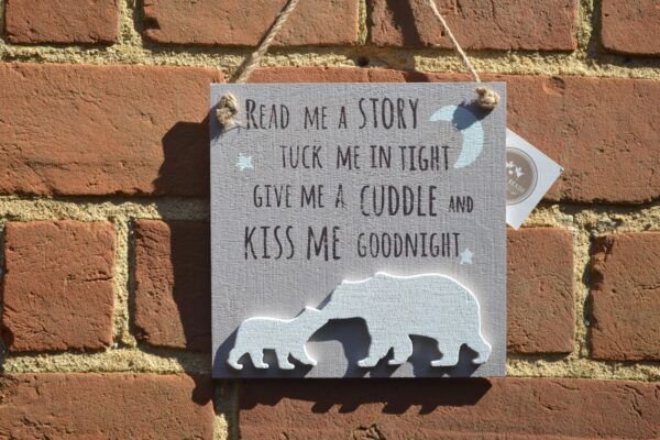 read me a story wooden sign