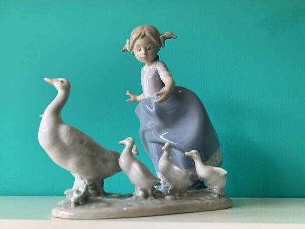 lladro girl geese scaled