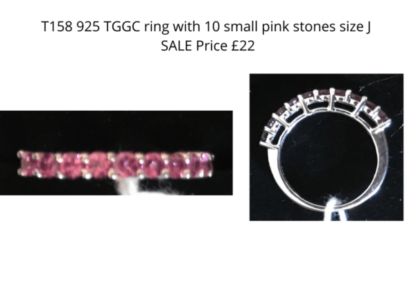 TLR 14 925 ring 10 small pink stones