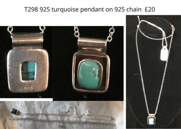 TLR 14 925 turquoise pendant on 925 chain