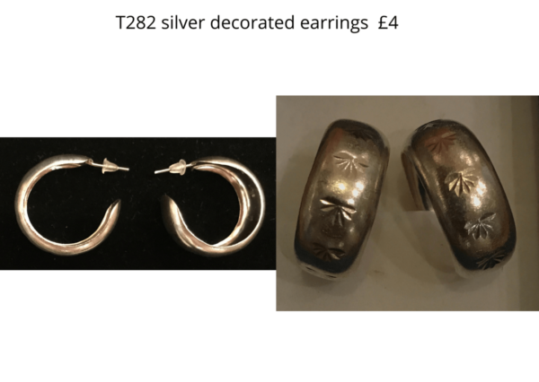 TLR 14 T282 silver decorated earrings
