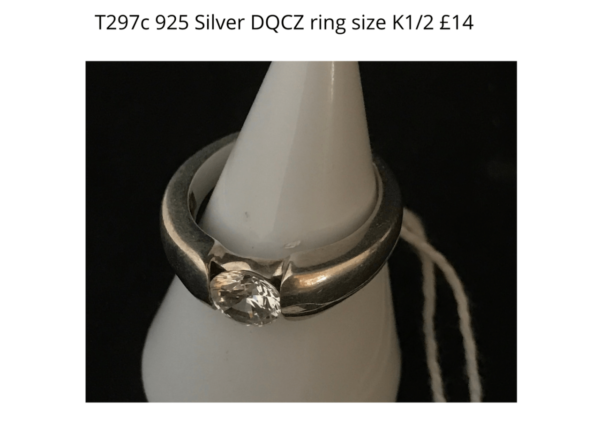 TLR 14 T297c 925 DQCZ ring K and half