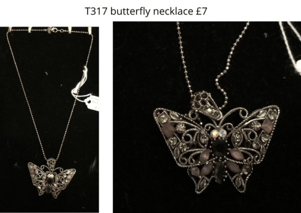 TLR 14 T317 butterfly necklace