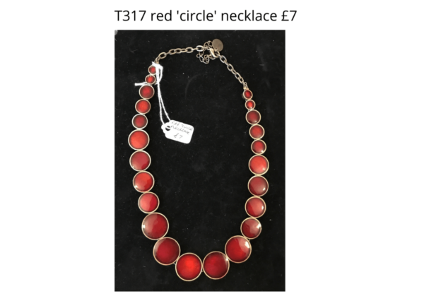 TLR 14 T317 red circle necklace poss Buckinmgham