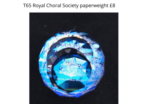 choral society paperweight