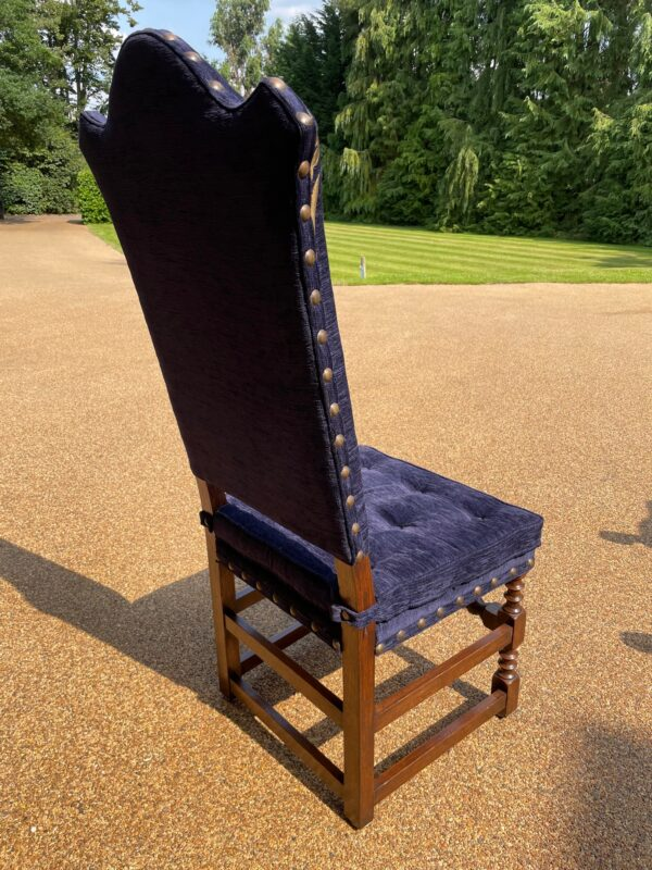 oak and upholstered dining chair 1b rotated
