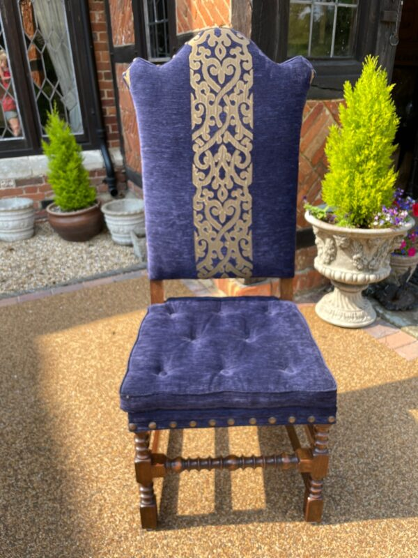 oak and upholstered dining chair 1c rotated