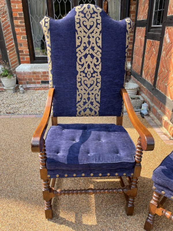 oak and upholstered dining chairs 1b rotated