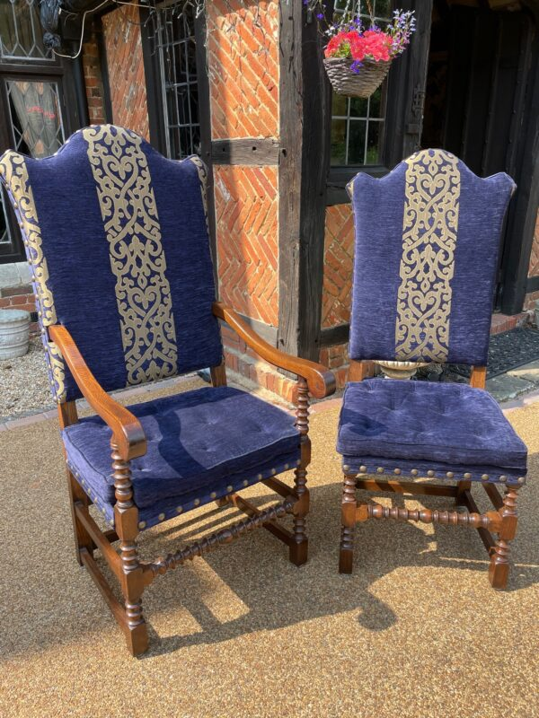 oak and upholstered dining chairs 1c rotated