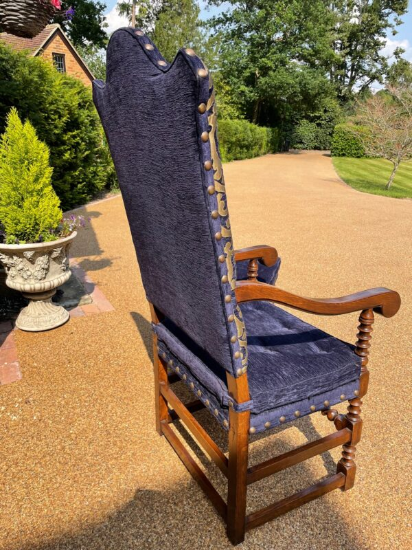 oak and upholstered dining chairs 1e rotated